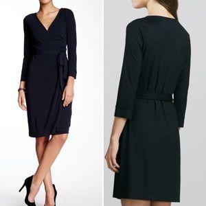 Diane Von Furstenburg Black New Julian Wrap Dress